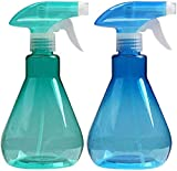Cymax Large Size Empty Spray Bottle,2 Pack 500ML Refillable Sprayer Leak Proof Durable