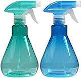 Cymax 2PCS 500ML Botella de Spray Vacías Botella de Aerosol Plástico Transparante para R...