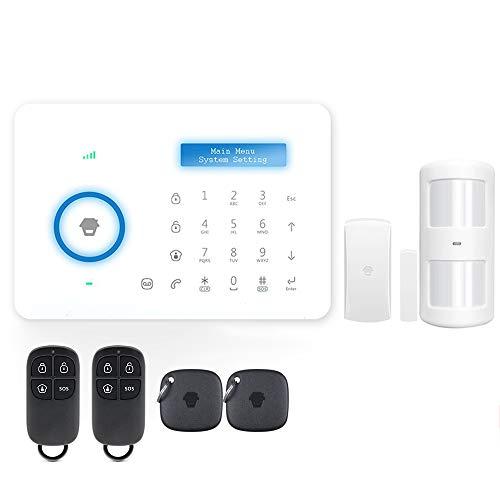 Lepeuxi Chuango A11 315MHz Sistema de Seguridad de Alarma PSTN de marcación automática inalámbrica LCD/RFID Teclado táctil PIR Sensor de Movimiento Sensor de Puerta Control Remoto Sistema de Alarma