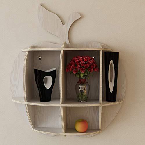 DIY wandplank Creatieve Muur boekenkast Slaapkamer Woonkamer TV Achtergrond Wanddecoratie 55,3 * 63,6 * 16 CM, C