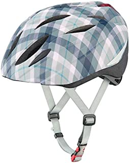オージーケーカブト(OGK KABUTO) 自転車 ヘルメット 子ども用 BRIGHT-J1(ブライト-J1) マットグレースチェックネイビー 児童用(頭囲:55~57cm)