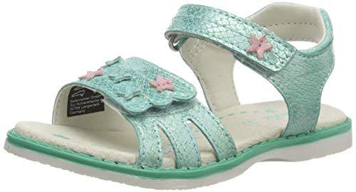 Lurchi Mädchen LULU Knöchelriemchen sandalen, Grün (Mint 46), 31 EU
