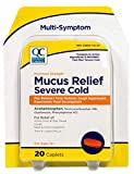 Quality Choice Mucus Relief Max Strength Severe Congestion & Cold 20 Caplets