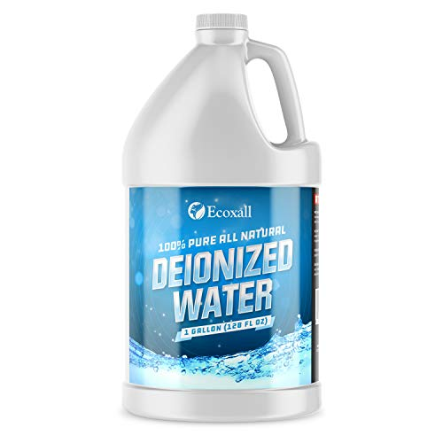 Premium Deionized Water - 1 Gallon - Laboratory Grade Certified - Demineralized Purification Softener - Ecoxall Chemicals
