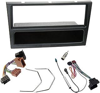Sound-way Kit Montaggio Autoradio, Mascherina 1 DIN, Cavo Adattatore Connettore ISO, Adattatore Antenna, Chiavi di Smontag...
