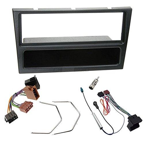 Sound-way 1 DIN Radiopaneel Frame Autoradio, Antenne Adapter, ISO Aansluitkabel, Demontage Sleutels, ondersteuning voor Opel Agila, Corsa, Omega, Agila, Vivaro