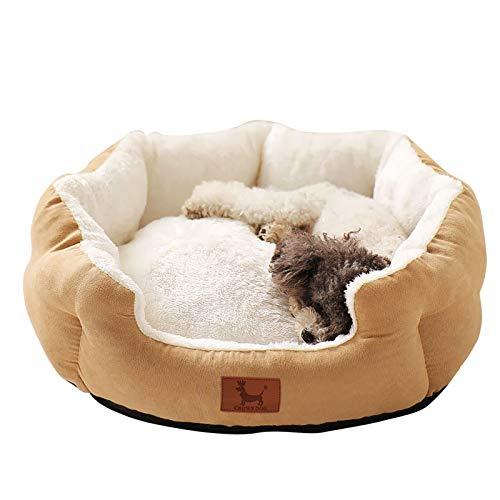Cama para perros Medianos Pequeño, Wuudi Cama de Suave Cachorro para Perros, Gatos y Mascotas 56* 46* 14cm Lavable