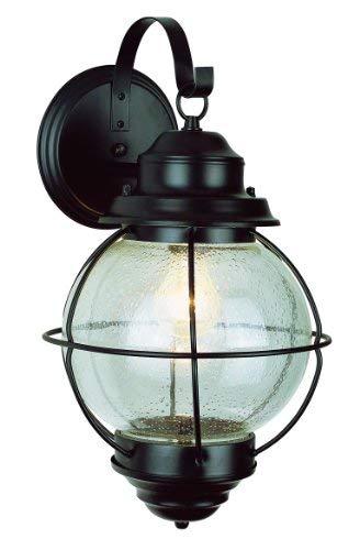 Trans Globe Lighting Trans Globe Imports 69901 BK Americana One Light Wall Lantern from Catalina Collection in Black Finish