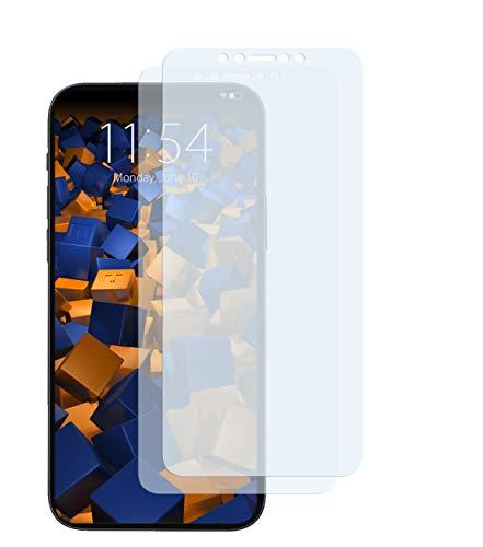 mumbi Schutzfolie kompatibel mit iPhone 12 / iPhone 12 Pro Folie klar, Displayschutzfolie (2X)