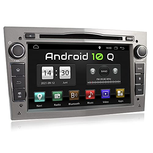 XOMAX XM-D03LA Autoradio mit Android 10 passend für Opel Corsa, Astra, Vectra, Zafira etc. I 2 GB RAM, 32 GB ROM I GPS Navigation, DVD, CD, USB, SD I Bluetooth, 18 cm Touchscreen