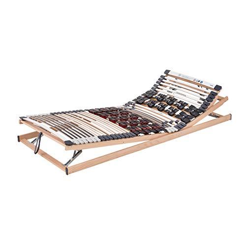 Ravensberger Matratzen Lattenrost Komfort (Duomed) VARIABEL Lattenrahmen in verschiedenen Größen (90 x 200 cm, Buche Verstellbar)