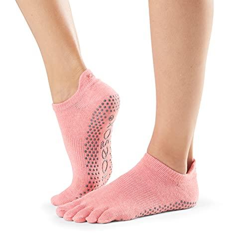 Toesox Full Toe Low Rise Calcetines de Yoga, Unisex Adulto, melón, S