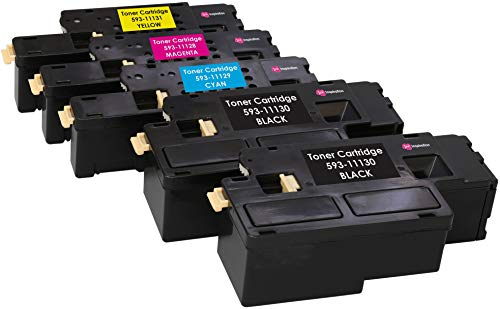 5 (1 SET + 1 BLACK) Compatible Laser Toner Cartridges for Dell C1660, C1660W, C1660DW, C1660CN, C1660CNW | Print Yield: 1,250 Pages (Black) & 1,000 Pages (Colours)