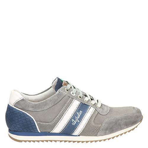 Australian Footwear Cornwall Leather Grey Jeans White Mens Sneakers