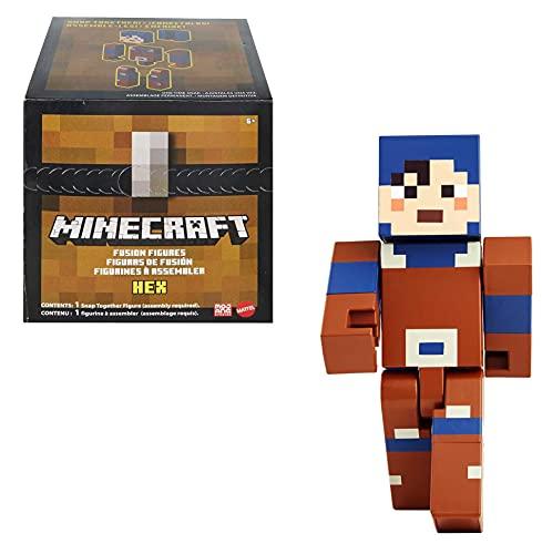 Minecraft GVV15 - Fusion Große Figur Hex, Craft-a-Figure-Set zum Selberbauen und Spielen, Tauschen und Sammeln, Spielzeug für Kinder ab 6 Jahren