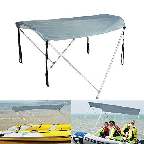 Paralume per Barca, tendalino Pieghevole per Barche Tendalino Parasole per Kayak Copertura Superiore per tettoia, Adatto per: da 43 a 63 Piedi Larghezza Barca