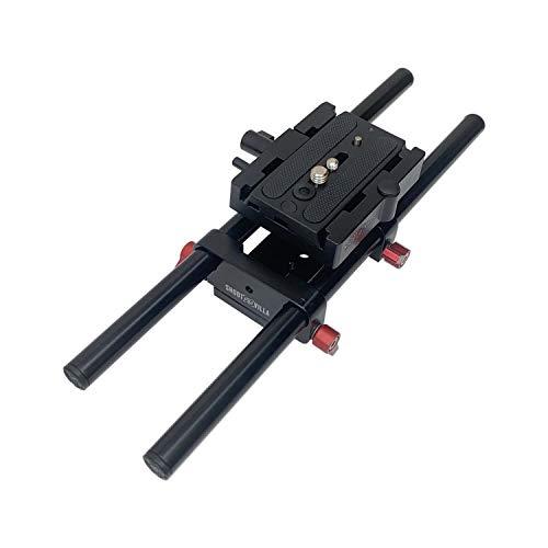 Shootvilla Sistema de riel universal de 15 mm soporte para cámara EOS...