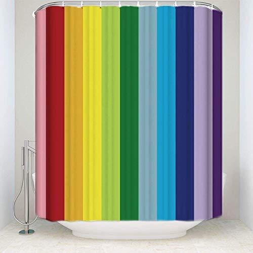 Douche Patroon Gordijn Rainbow Digital Printing Shower Curtain vlaggendoek Rainbow Shower Curtain, Waterdichte Polyester