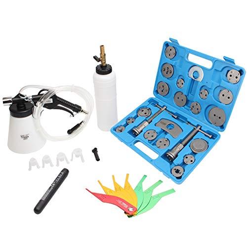 CCLIFE Universal Brems Werkzeug Bremsenwerkzeug Set | Bremskolbenrücksteller | Bremsenentlüfter | Bremsflüssigkeit Tester | Dicken Tester