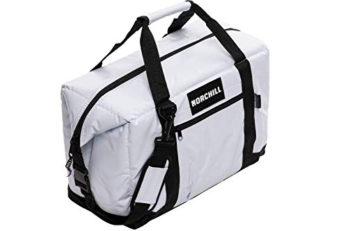 NorChill 24 Can Insulated Marine Boatbag Soft Sided Cooler, White