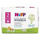 HiPP Babysanft Windeln für Babys, Mit Nässeindikator, Geeignet von 3-6 kg, Gr. 2 (56-68), 2 Tragepack, 31 Stück