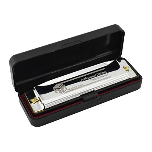 MUSICUBE Harmonica for Kids Adults 10 Hole Blues Harmonica with Case Professional C Harmonica for Beginnners and Students Kids Instrument Gift Choice