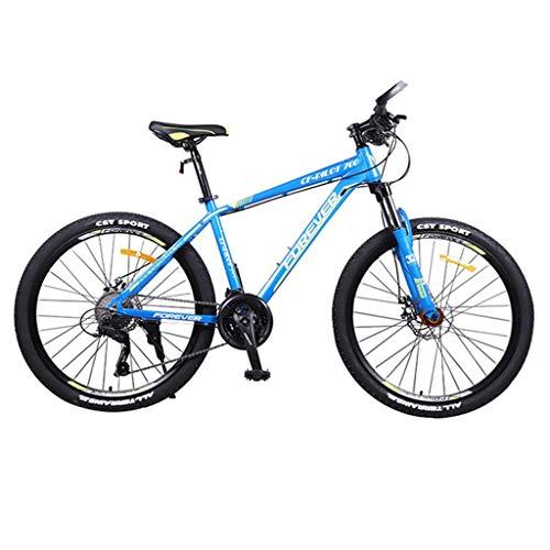 Bicicleta Montaña MTB De 26 pulgadas de bicicletas de montaña, de aleación de aluminio duro-cola Bicicletas, 17' Marco, doble disco de freno y suspensión delantera, 27 de velocidad Bicicleta de Montañ