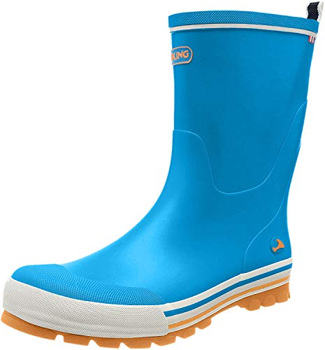 Viking Unisex-Kinder Jolly Gummistiefel, Blue/Orange, 36 EU