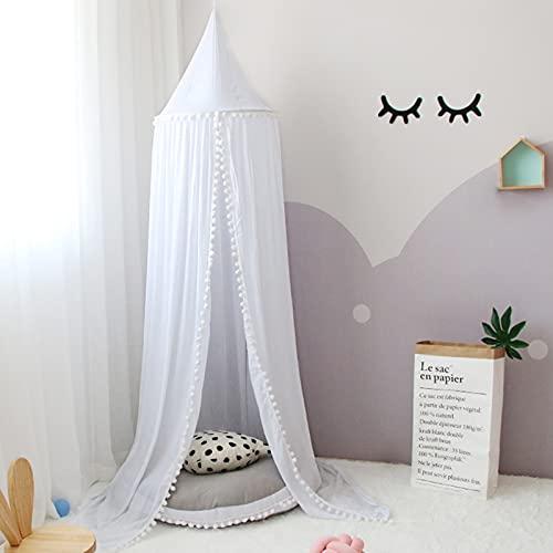 papasbox Prinzessin Moskitonetz für Kinde, Chiffon Baldachin, Betthimmel für Kinder, Mückennetz Bett, Tipi Zelt für Kinder das Babybett, das Kinderbett, das Mädchenbett oder das Doppelbett abzudecken