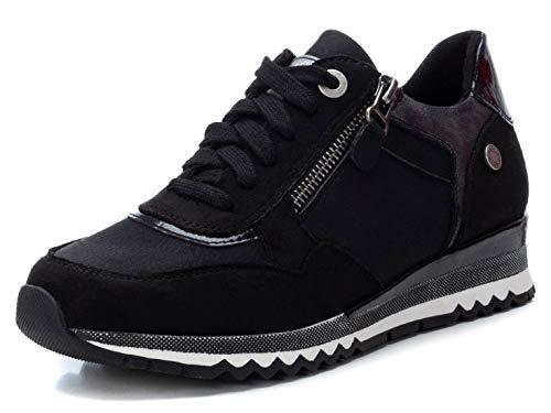 REFRESH - Zapatilla para Mujer - Cierre con Cremallera - Color Negro - Talla 39