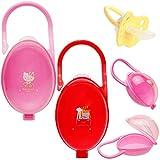 alles-meine.de GmbH Schnullerbox / Dose - bis 2 Schnuller - mit Henkel - Haken - Mädchen Motiv - BPA frei - Schnullerdose - Kinder Baby - Kunststoff Plastik Schnulleraufbewahrung..