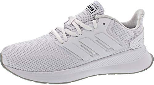 adidas Unisex-Kinder RUNFALCON K Laufschuhe Weiß Footwear (White/Grey 0), 36 EU