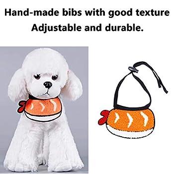 Bavoirs pour animal domestique mignon - Bavoirs pour chat ou chiot - En tissu résistant à l'humidité - Accessoires d'écharpe avec cordon de serrage élastique réglable - Taille L