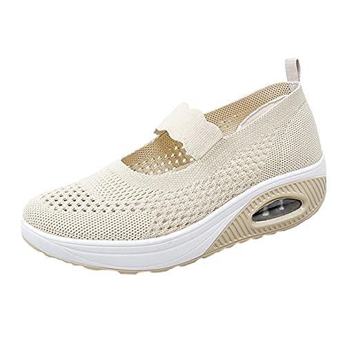 Merceditas Plataforma Ligero Zapatillas Sandalias para Mujer Malla Sneaker Mary Jane Casual...