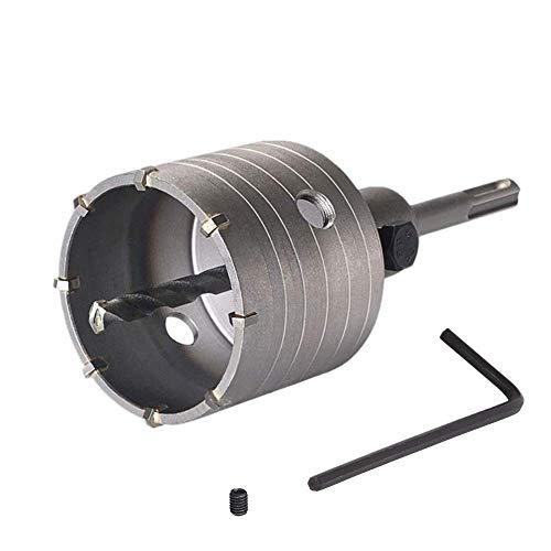 KZKR Corona de perforación hueca φ 68 mm con adaptador SDS plus de 110 mm y broca de centrado de 8 x 110 mm. Resistente a los impactos – Broca de latas – Sierra de corona para hormigón y ladrillos