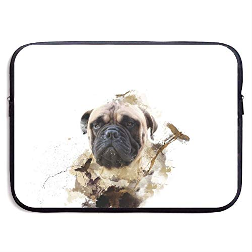 Fashion Computer Liner Sleeve Case Cute Pug Dog Painting Art for MacBook Pro/MacBook Air/Asus/Dell,13inch