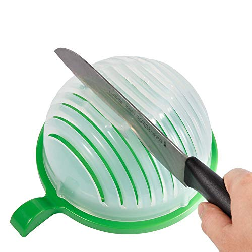 Salad Cutter Bowl,Fruit Vegetable Salad Chopper Bowl,Easy Salad Make,Fresh Salad Slicer FDA-Approved