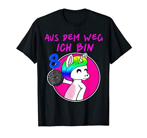 8 Jahre Einhorn Bowling Lustige Bowling Mädchen T-Shirt