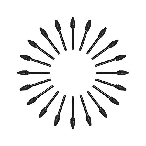 Leepus Puntas de bolígrafo de repuesto BOSTO 20pcs Puntas de lápiz compatibles con todos los BOSTO Monitor gráfico Tableta de dibujo Batería Stylus Negro