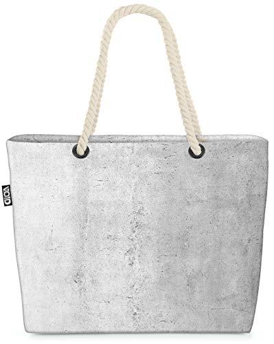 VOID Sichtbeton Strandtasche Shopper 58x38x16cm 23L XXL Einkaufstasche Tasche Reisetasche Beach Bag