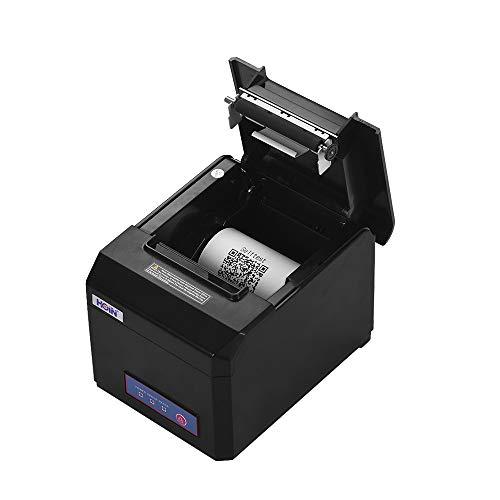 Festnight Supporto stampante 80mm per ricevute termiche 58mm / 80mm Larghezza carta con taglierina automatica Interfaccia Ethernet seriale USB Compatibile con ESC/POS Comandi di stampa per
