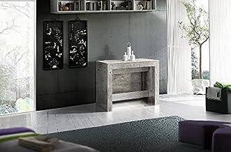 طاولة كونسول- موفرة للمساحة، متعددة الأغراض، قابلة للتمديد - لغرفة المعيشة، غرفة الطعام، الرواق، المكتب - لون رمادي مصنوعة...