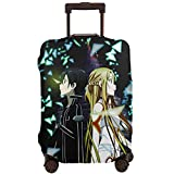 Sword Art Online - Funda protectora para equipaje de viaje con cremallera lavable