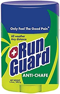 RunGuard Natural Anti-Chafe (1.4oz): Made with 100% Plant-Based Ingredients Plus Beeswax. Works for all distances, from 5K walks/runs to 100 Mile Ultra Marathons.