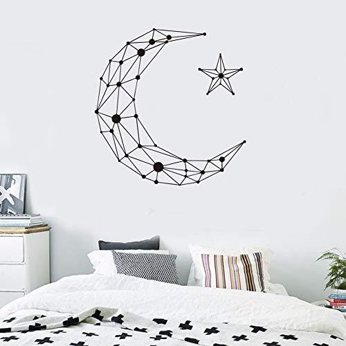 Tianpengyuanshuai creatieve geometrische sterren maan vinyl muursticker decoratie van huis woonkamer slaapkamer afneembaar behang aftrekplaatjes