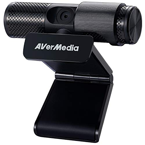 AVerMedia Live Streamer CAM 313: Full HD 1080P Streaming Webcam, Privacy Shutter, Dual Microphone, 360 Degree Swivel Design, Exclusive AI Facial Tracking Stickers. (PW313)