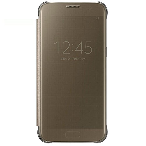 Samsung EF-ZG930CFEGWW Clear View Cover Custodia per Galaxy S7, Oro (Gold)
