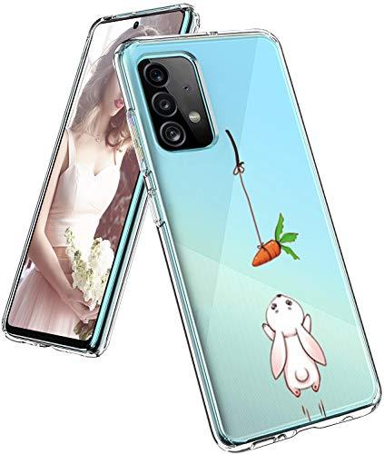 Funda para Samsung Galaxy A52, funda original transparente flexible de silicona A52, funda con estampado animal Galaxy A52, funda fina 360 grados, antigolpes, carcasa para Samsung A52