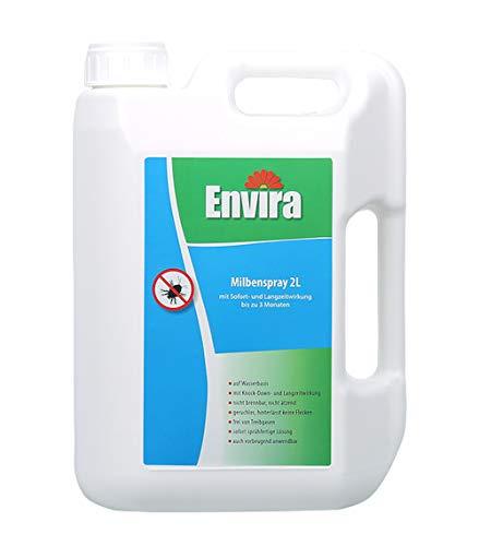 Envira Anti-Milben-Schutz 2Lt - Milben-Spray Mit Langzeitwirkung - Geruchlos & Auf Wasserbasis - 2 Liter