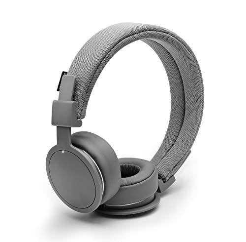 Urbanears Plattan ADV Wireless - Collapsible Headphones with Handmade Drivers, Remote and Sharing Zoundplug - Dark Grey